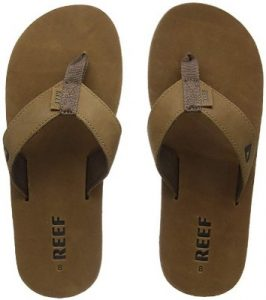 Reef Leather Smoothy Flip Flops